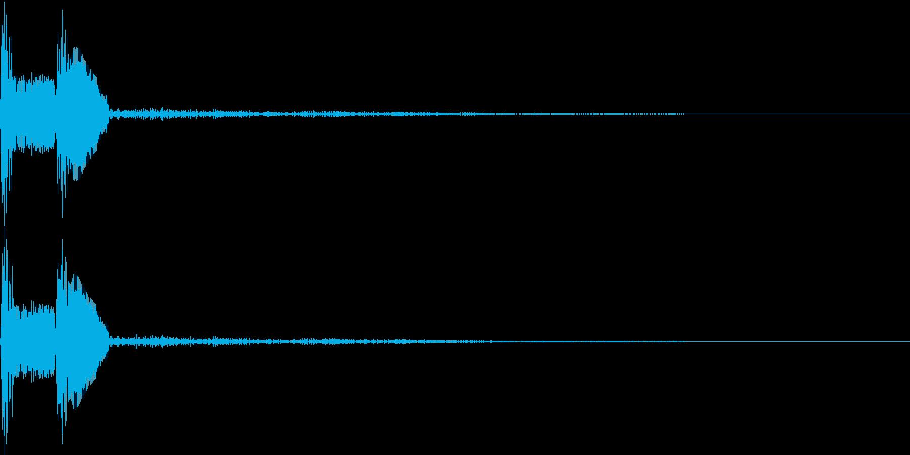 ピコ(出現、カーソル、ボタン)の再生済みの波形