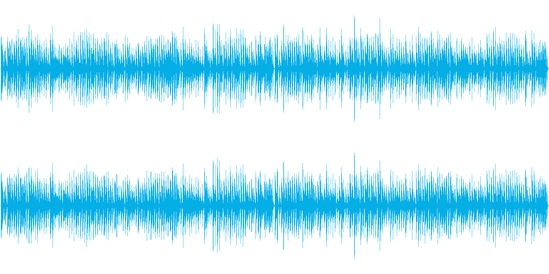 コミカルBGMの再生済みの波形
