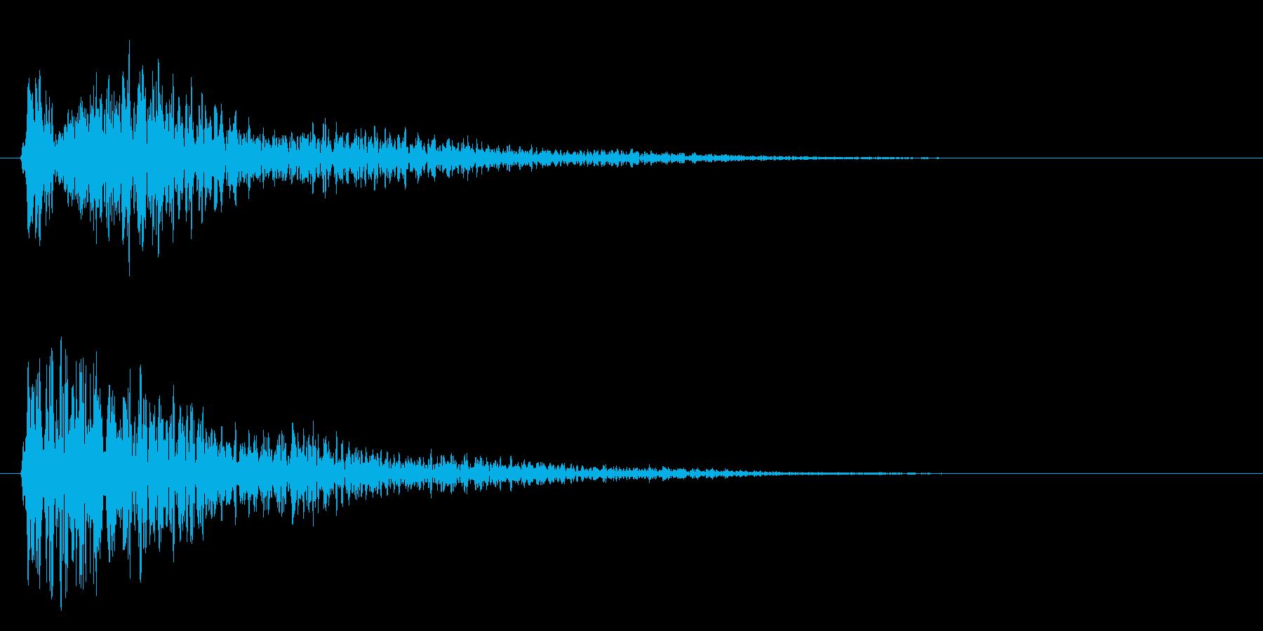 ゥワ~ン~~~の再生済みの波形