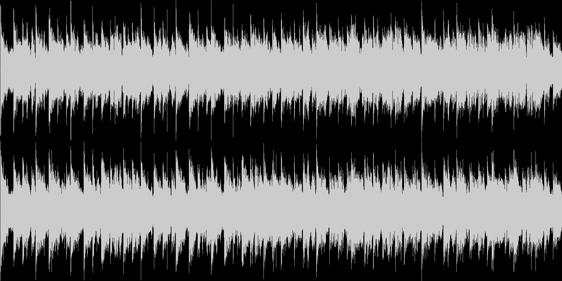 ほのぼのした雰囲気のゲーム向けループ曲の未再生の波形
