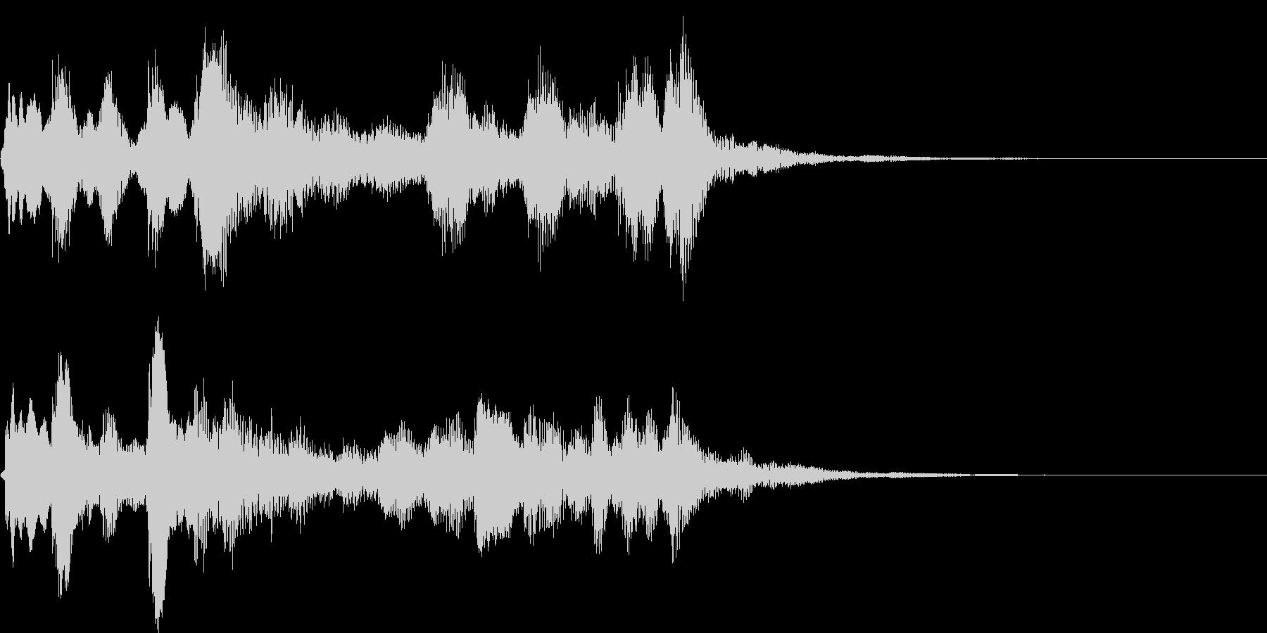 ピアノ、クラリネットなどの室内楽ジングルの未再生の波形