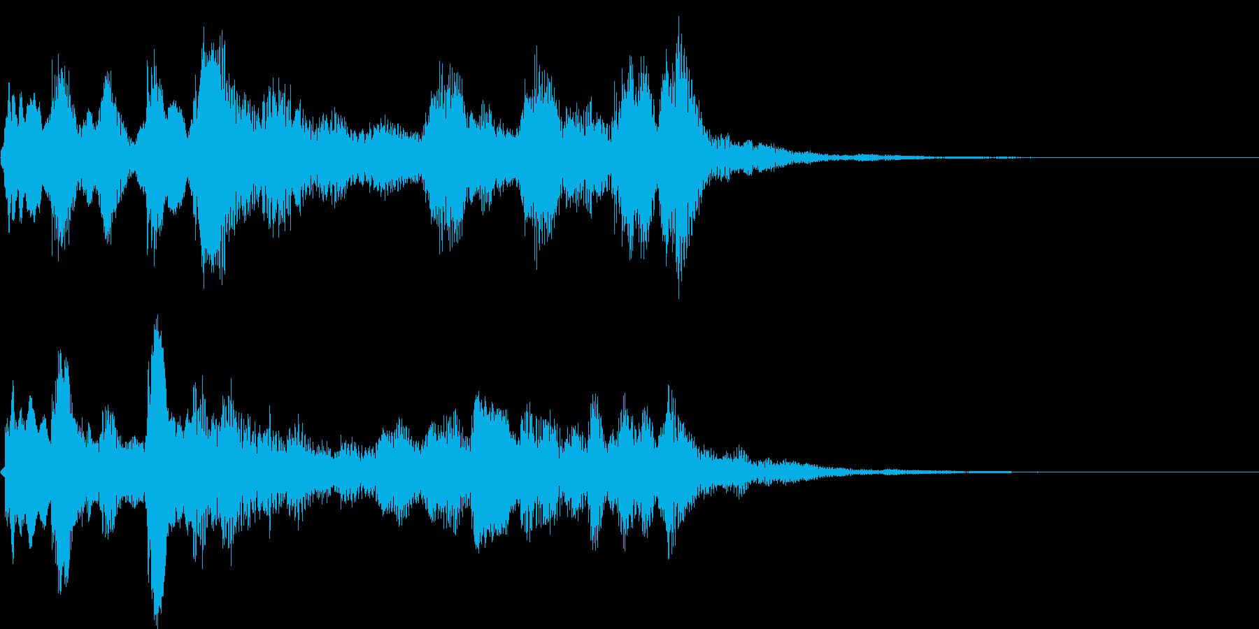 ピアノ、クラリネットなどの室内楽ジングルの再生済みの波形