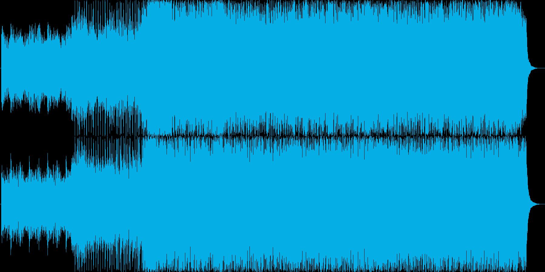 ピアノが印象的なオープニングBGMの再生済みの波形