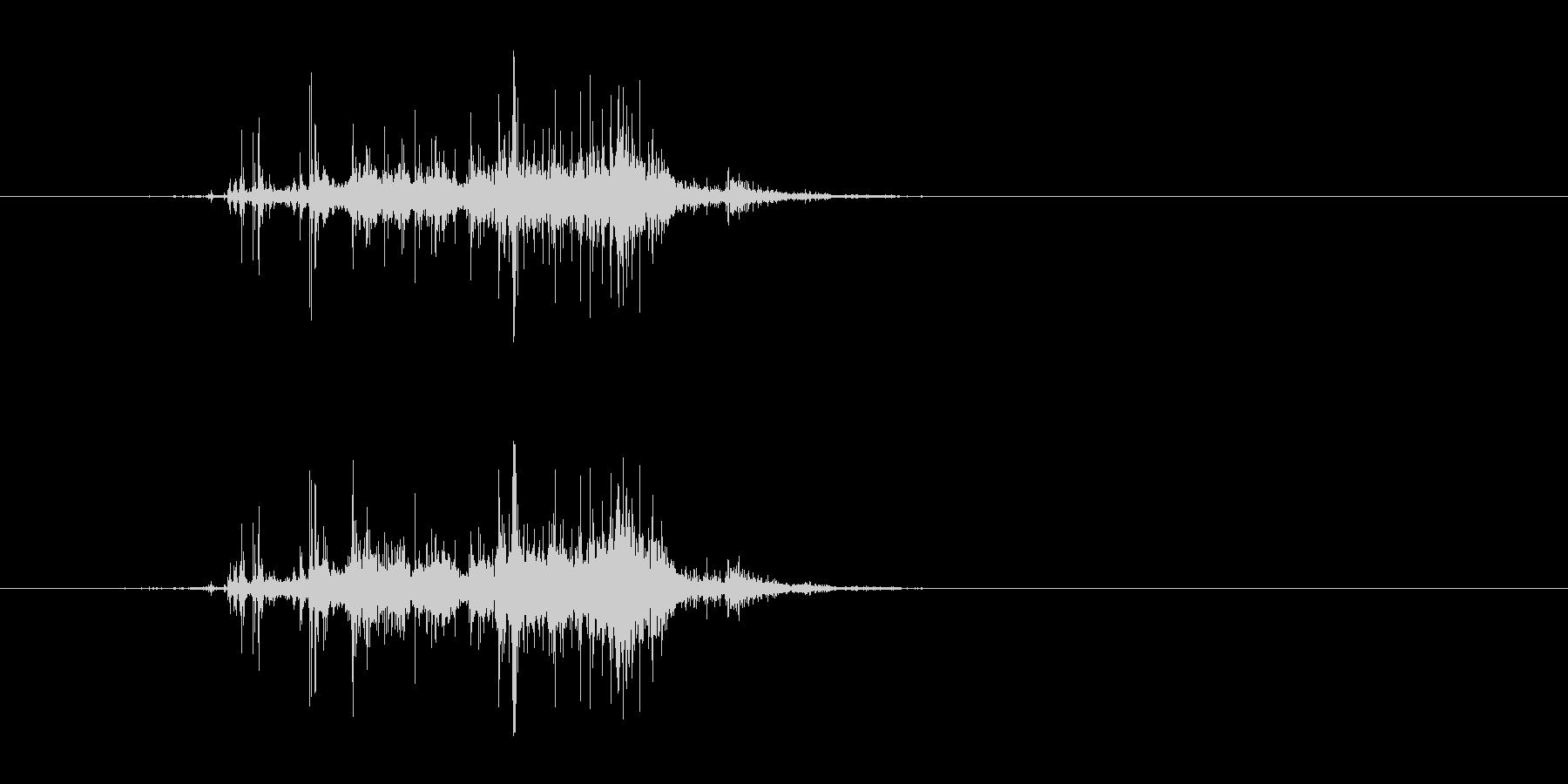 木が倒れる音(メリメリッ、ドサッ)の未再生の波形