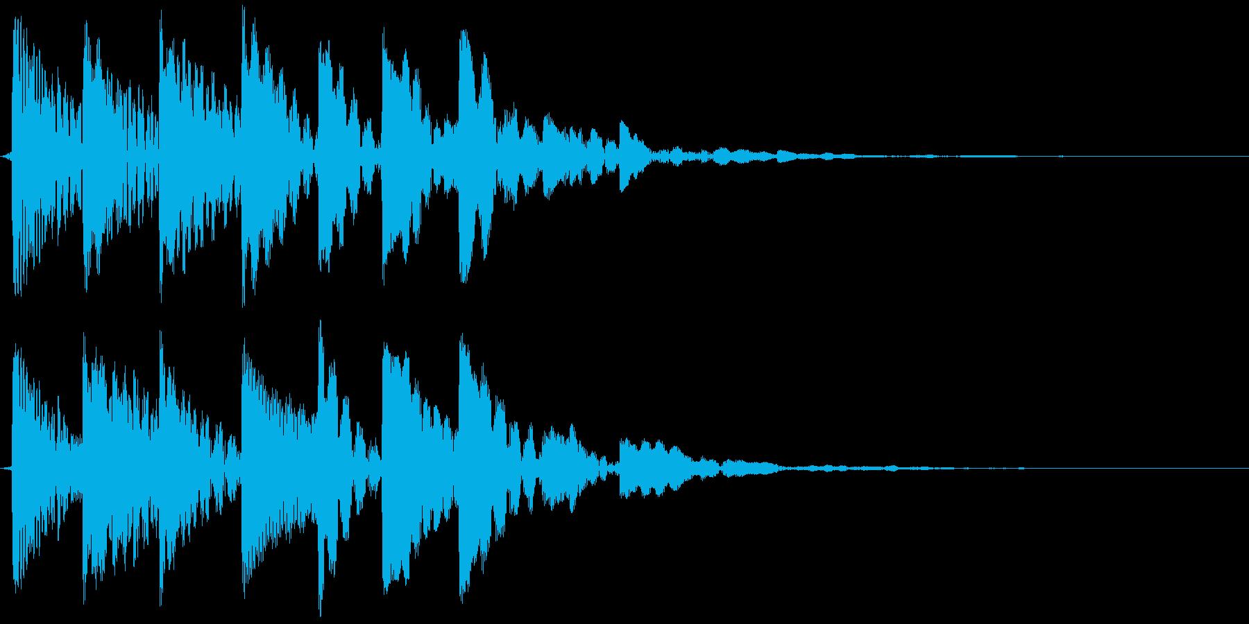 レベルアップの再生済みの波形