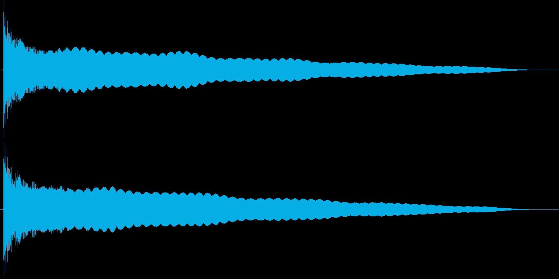 コーン  仏具の鐘、お鈴の再生済みの波形