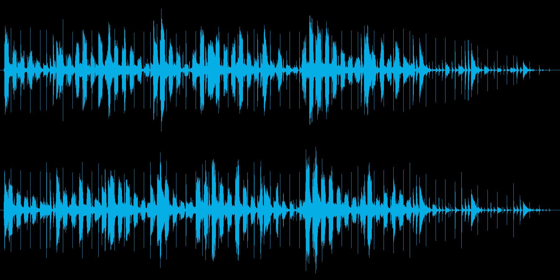 RhosePianoとレトロなリズムボ…の再生済みの波形