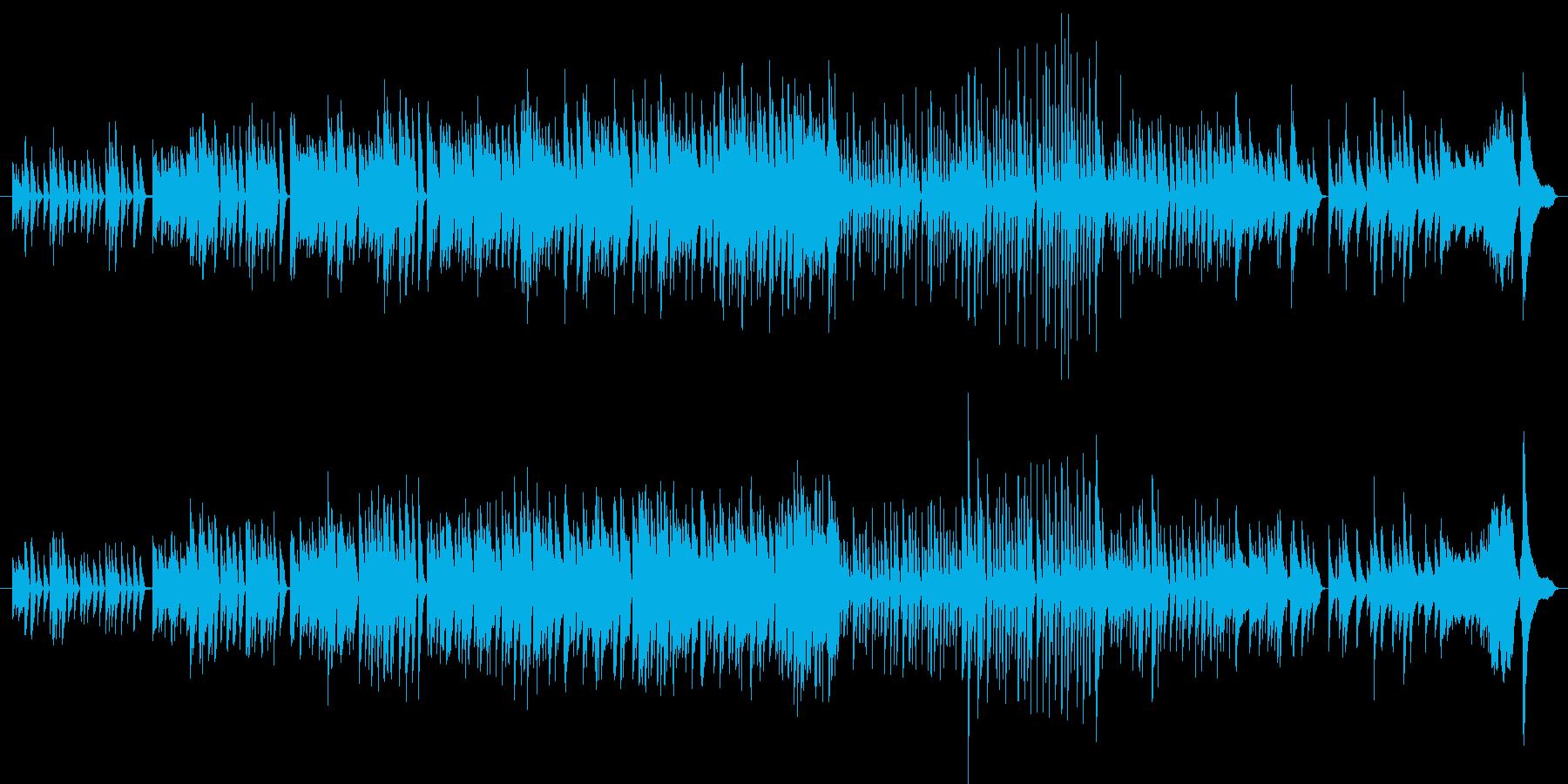 ピアノソロによる幾何学的雰囲気の曲の再生済みの波形