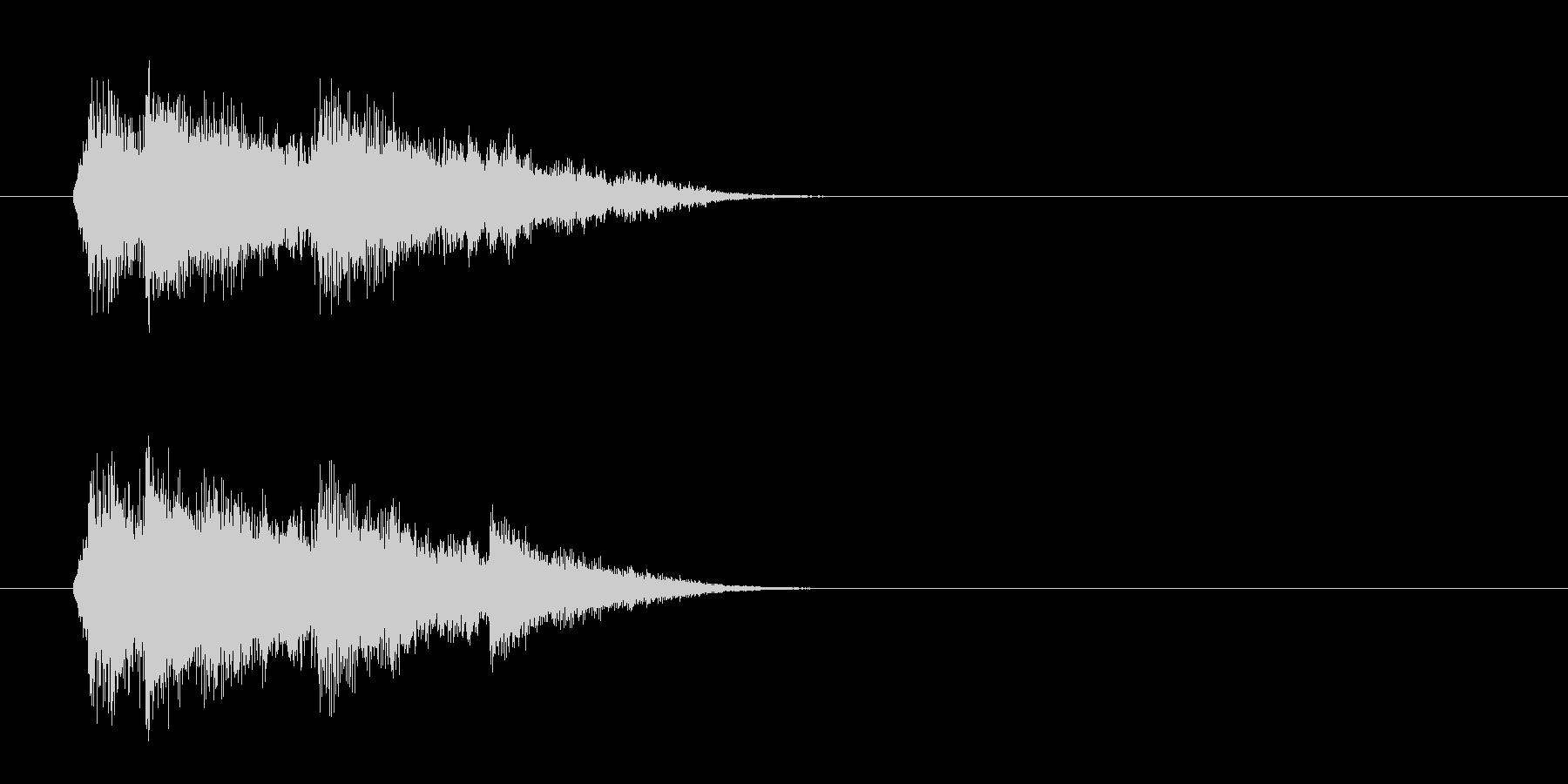 ジングル(SE風)の未再生の波形