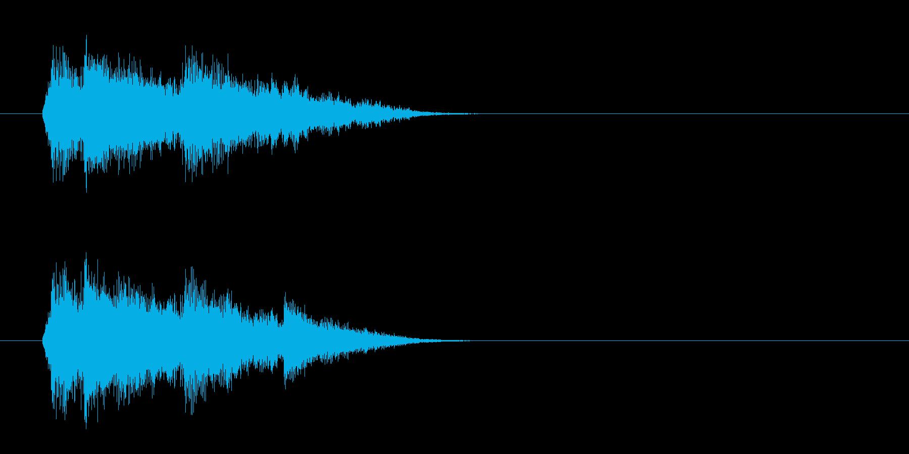 ジングル(SE風)の再生済みの波形