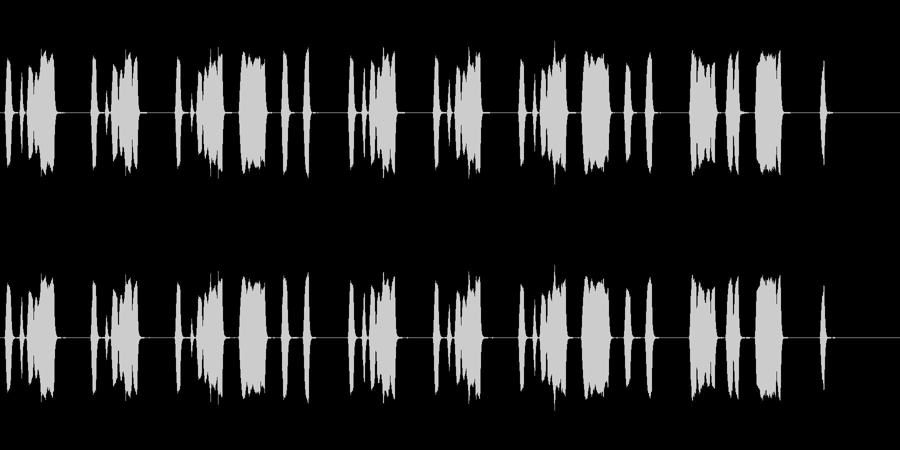 のんきでほのぼのとした口笛のジングルの未再生の波形