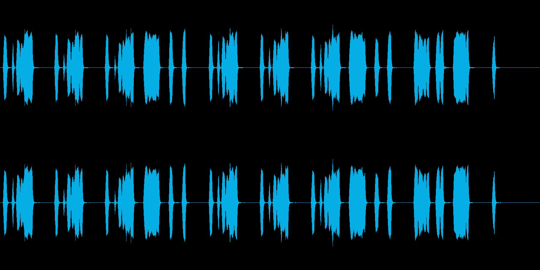 のんきでほのぼのとした口笛のジングルの再生済みの波形