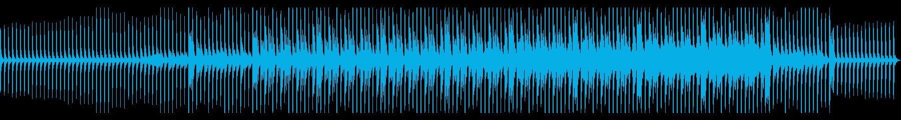 サスペンス系に適した緊迫感のあるBGMの再生済みの波形