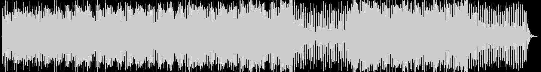 近未来感のあるコードのハウスBGMの未再生の波形