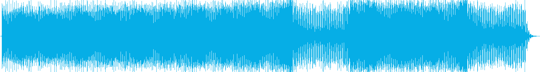 近未来感のあるコードのハウスBGMの再生済みの波形