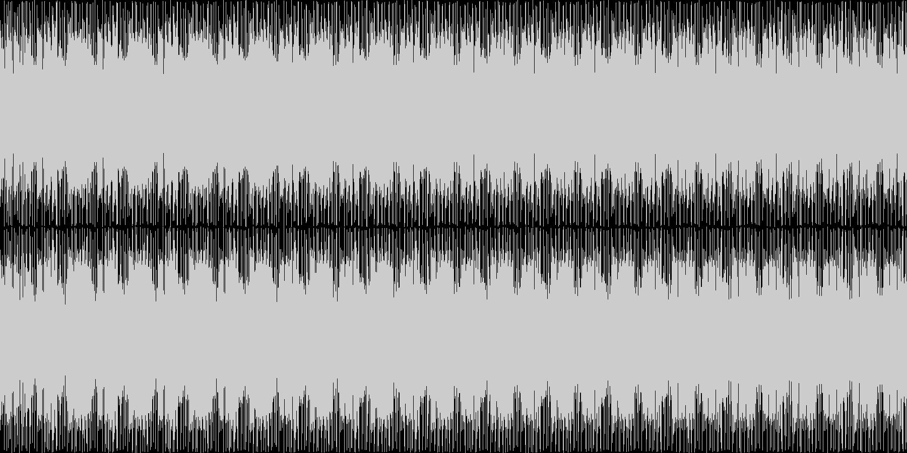 映像に合う近代的・神秘的なループBGMの未再生の波形