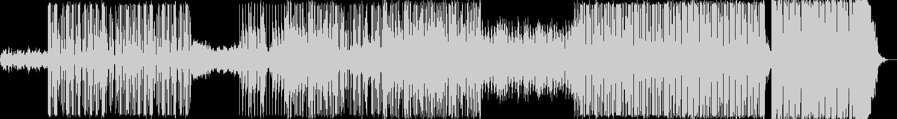 インダストリアルなヒップホップ系電子音楽の未再生の波形
