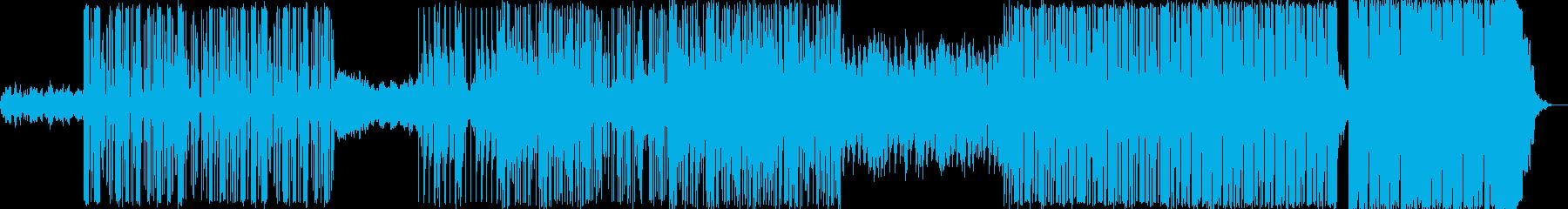 インダストリアルなヒップホップ系電子音楽の再生済みの波形