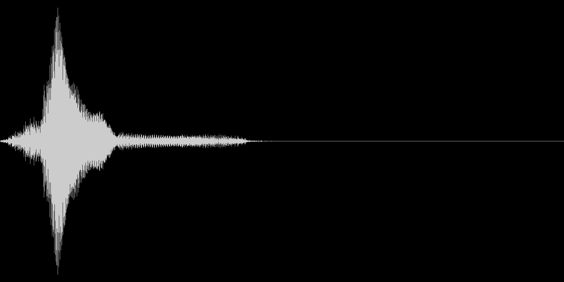 ゲーム掛け声男3ハー1の未再生の波形