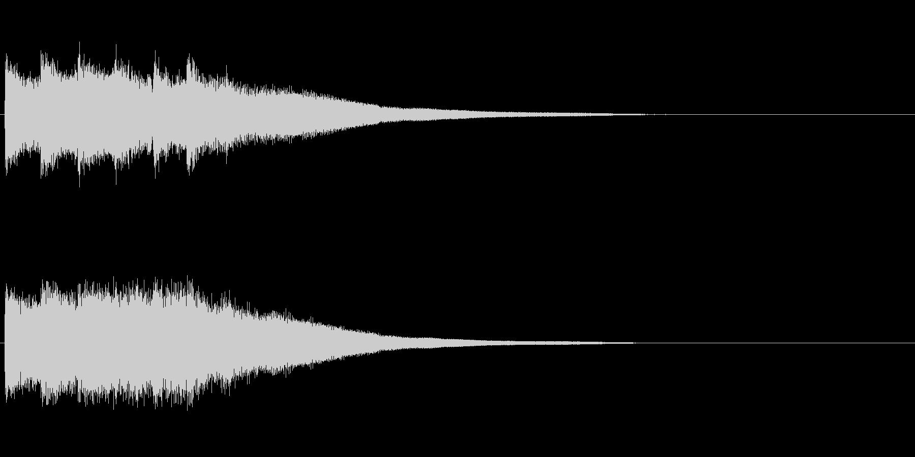 カンカンカーン(決定音、鐘)の未再生の波形