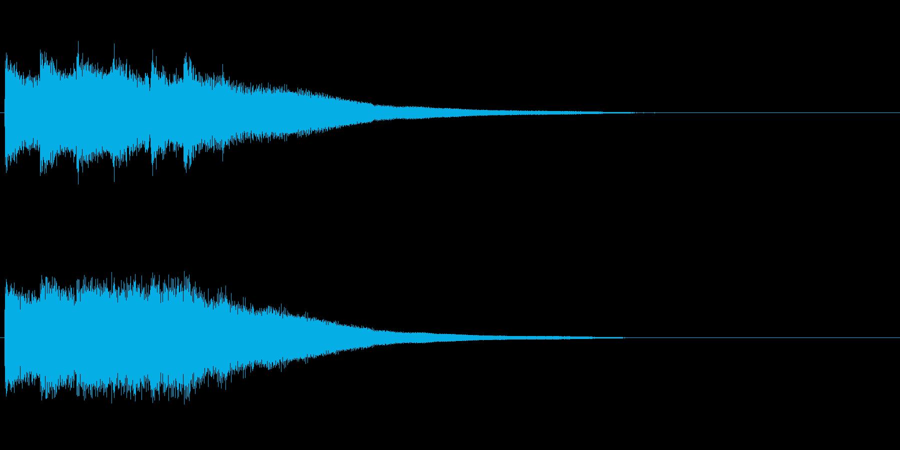 カンカンカーン(決定音、鐘)の再生済みの波形