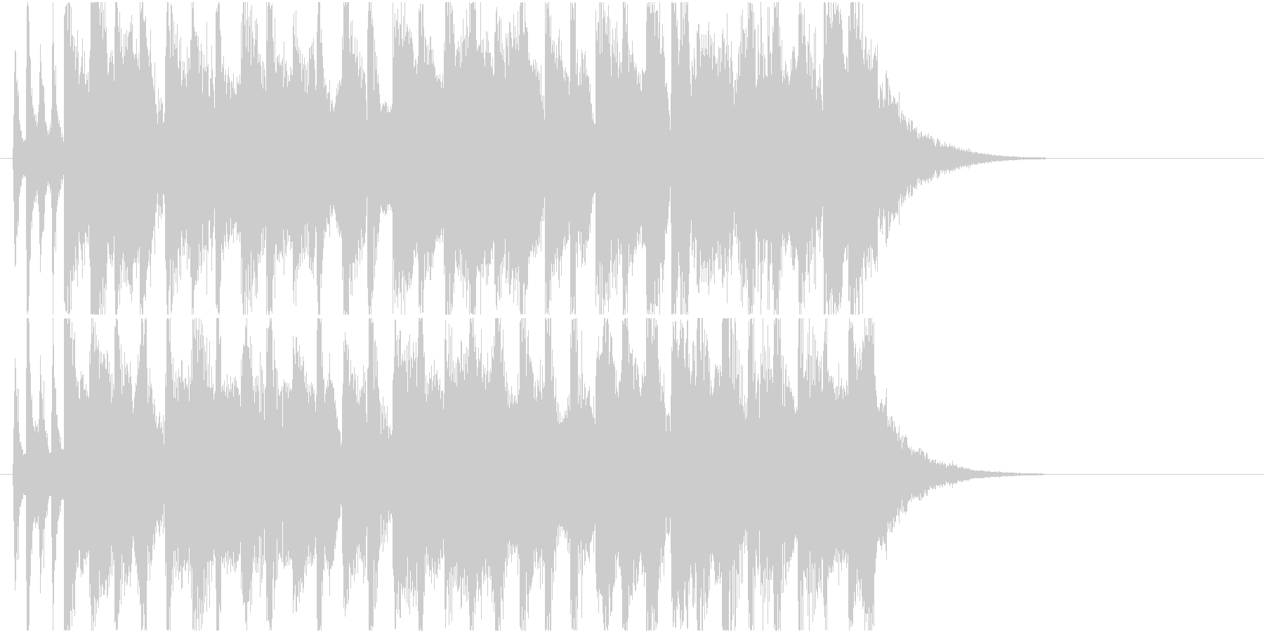 ノーテンキな感じのジングルの未再生の波形