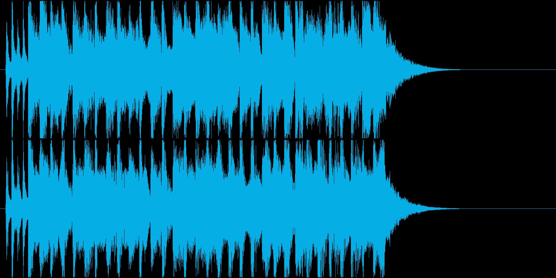 ノーテンキな感じのジングルの再生済みの波形