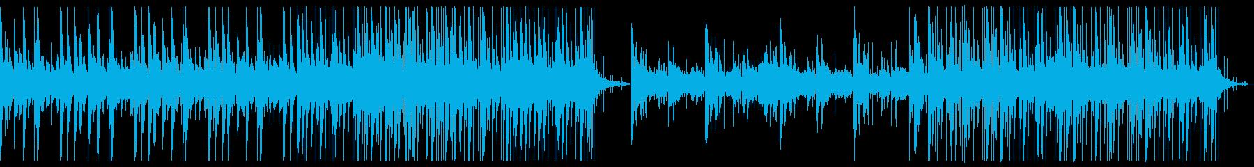 ホラーミステリー的な曲の再生済みの波形