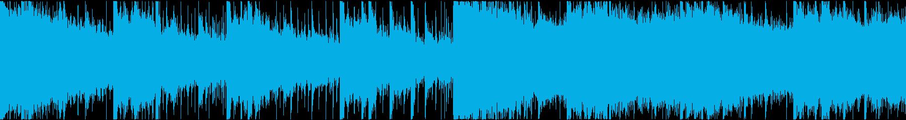幻想的で穏やかなエレクトロR&Bショートの再生済みの波形