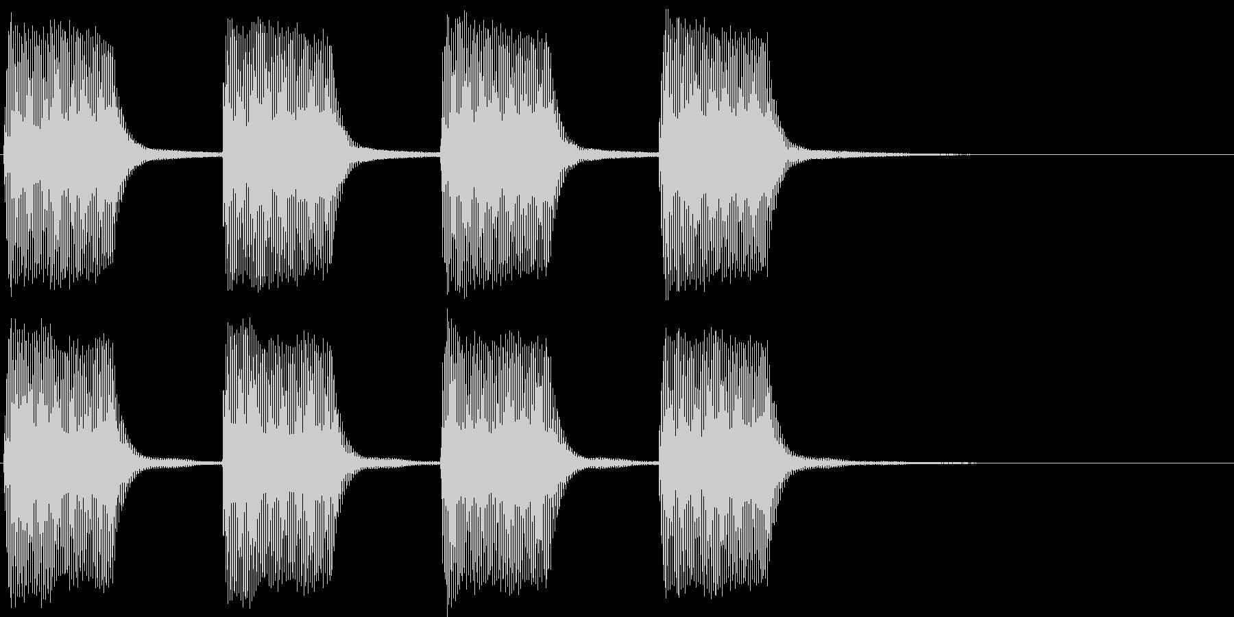ヴィーヴィー。緊急事態の警報音Eの未再生の波形