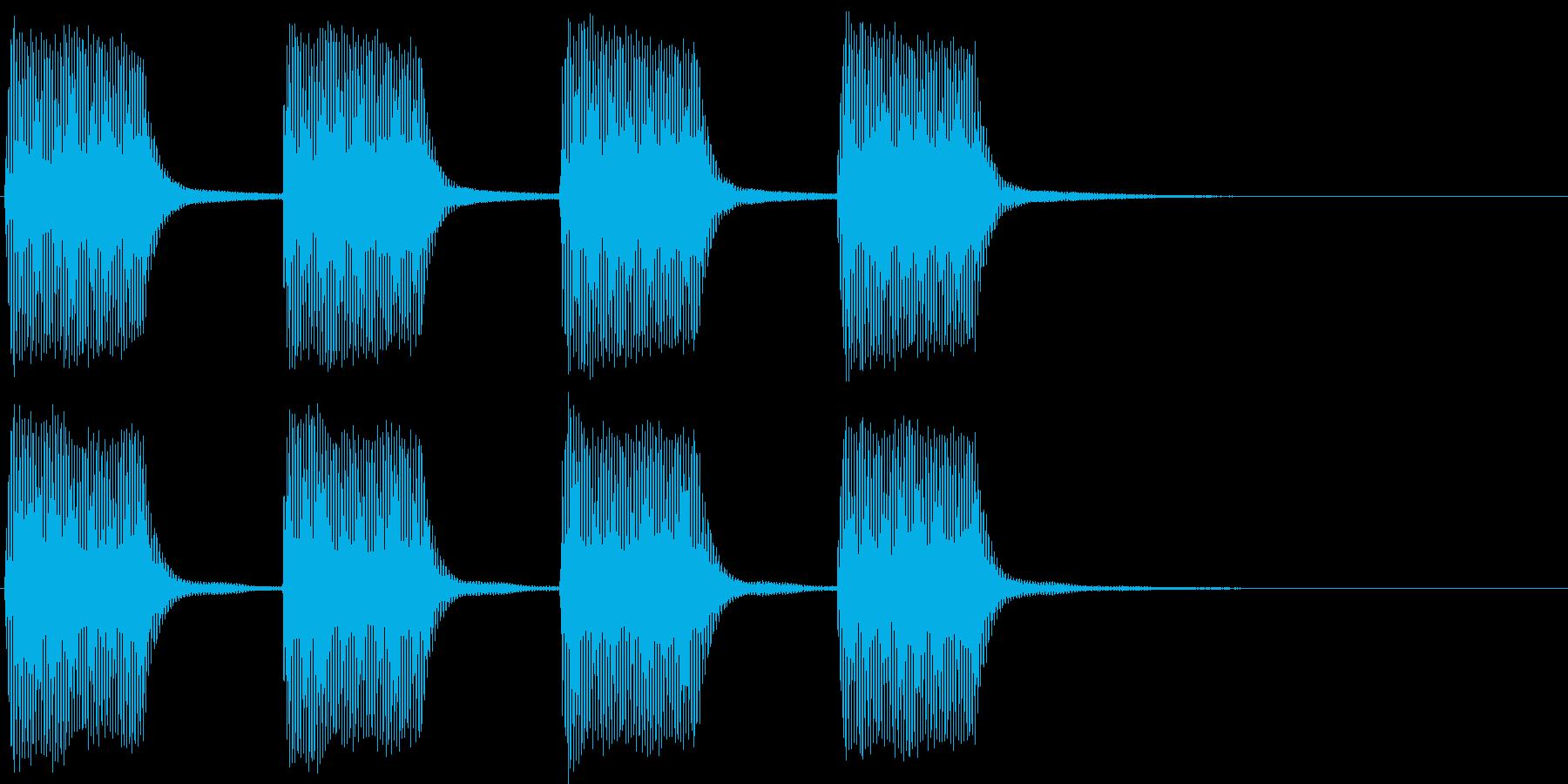 ヴィーヴィー。緊急事態の警報音Eの再生済みの波形