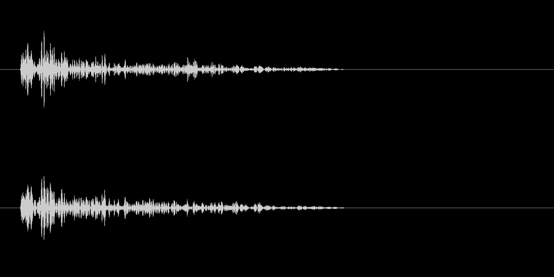 ワープ音(移動)の未再生の波形