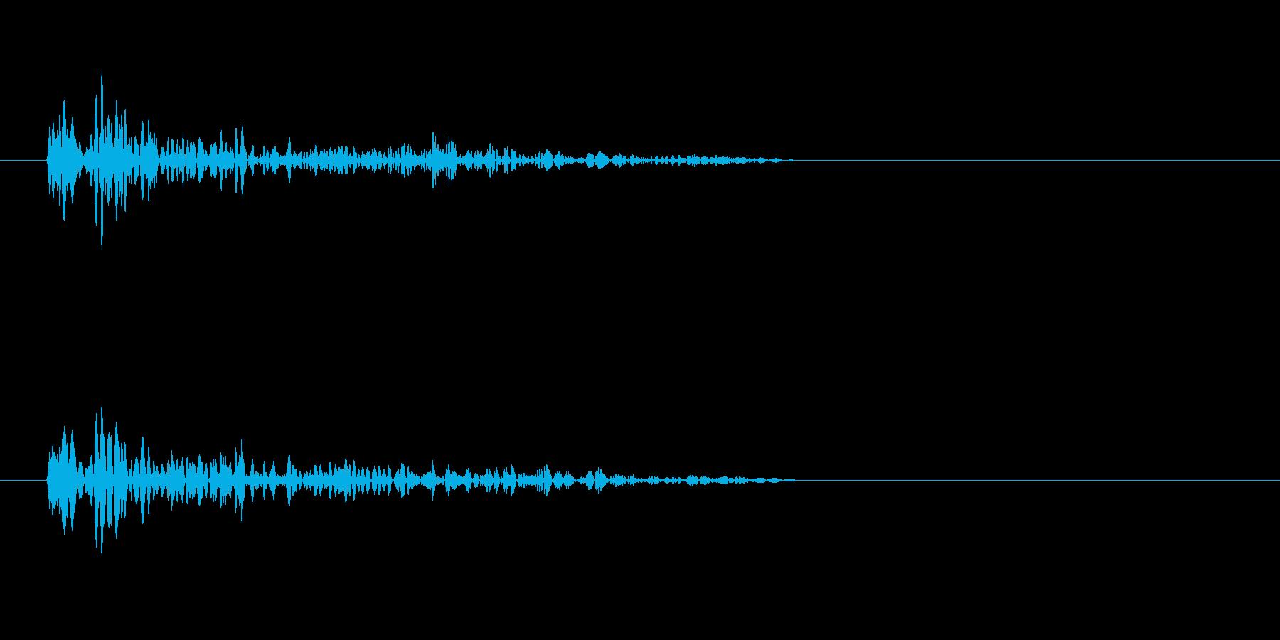 ワープ音(移動)の再生済みの波形