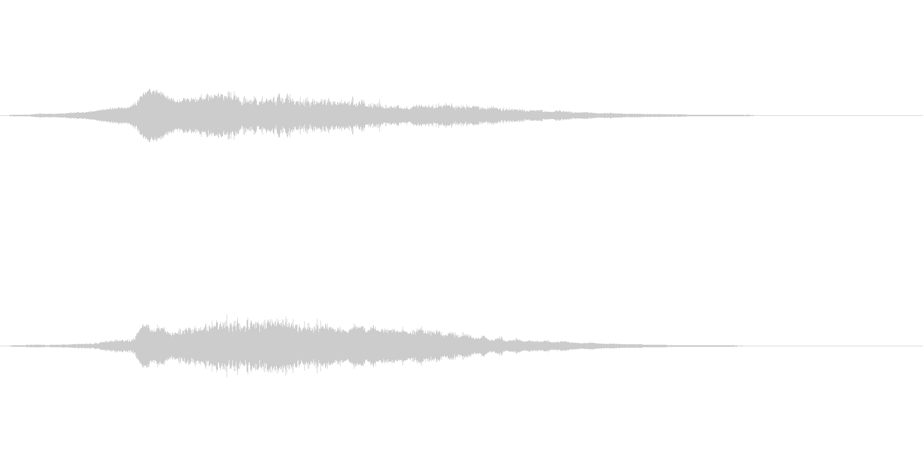 タイトル登場音の未再生の波形