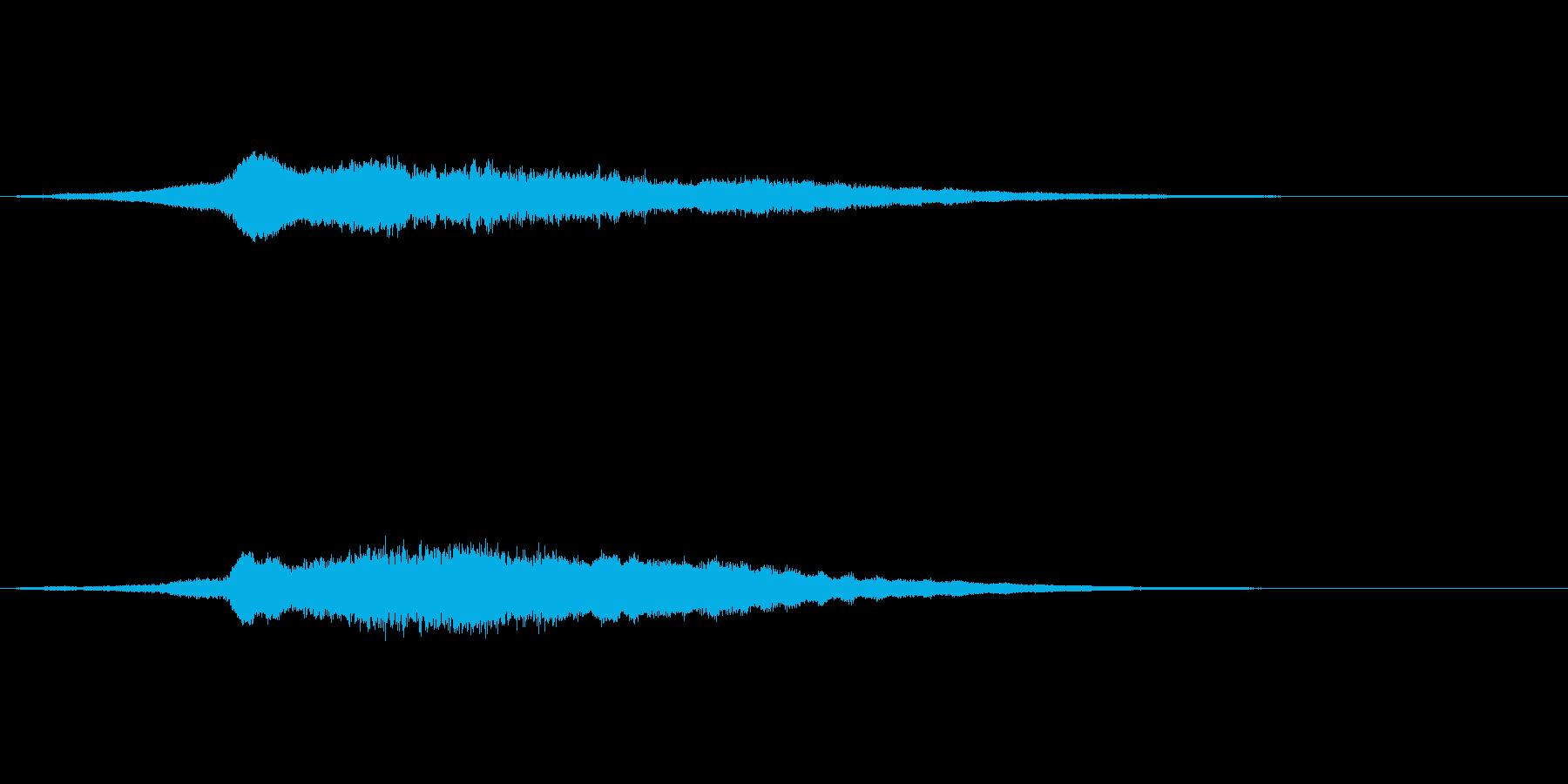 タイトル登場音の再生済みの波形