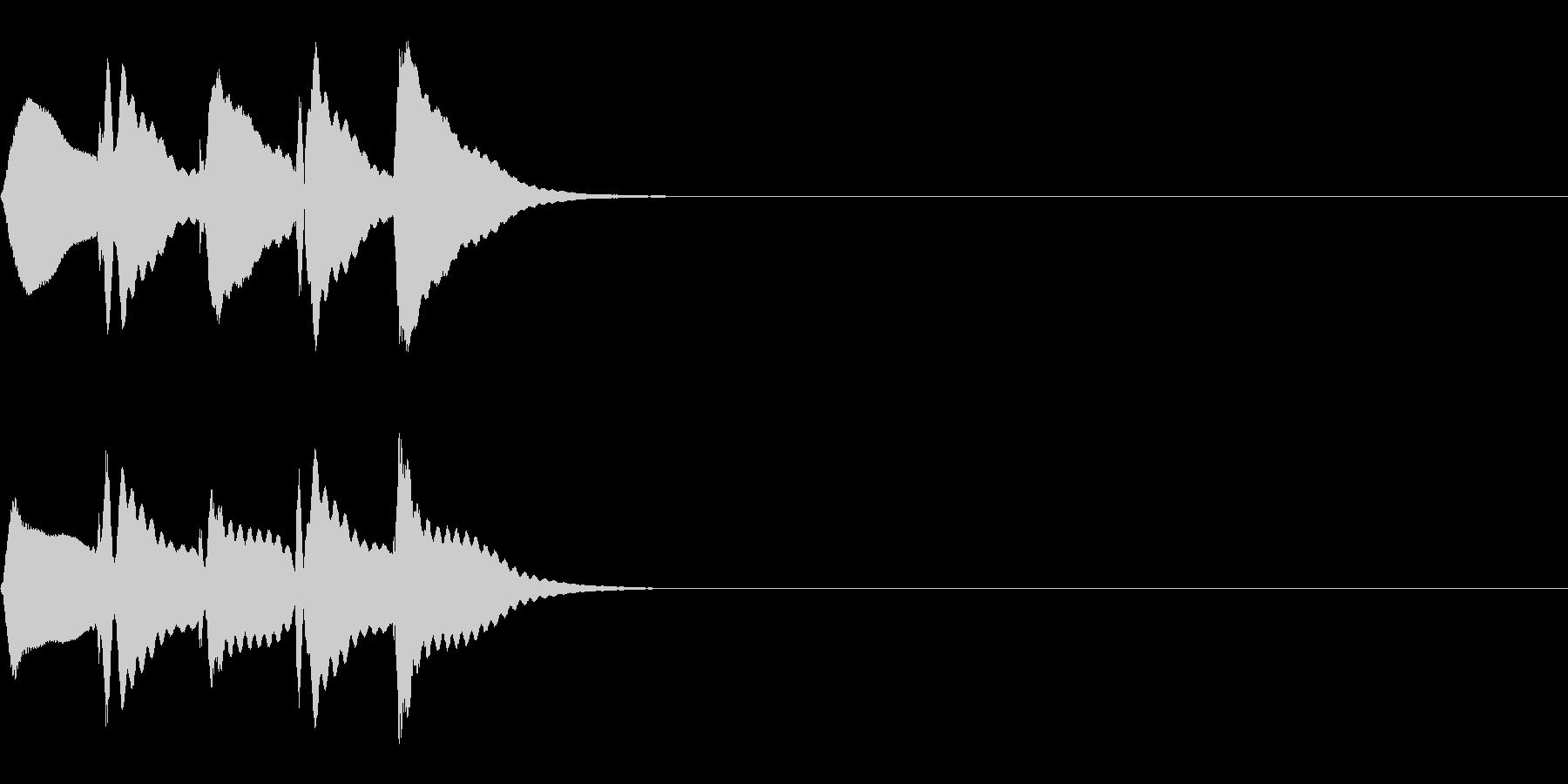 マリンバの短いトリルの未再生の波形