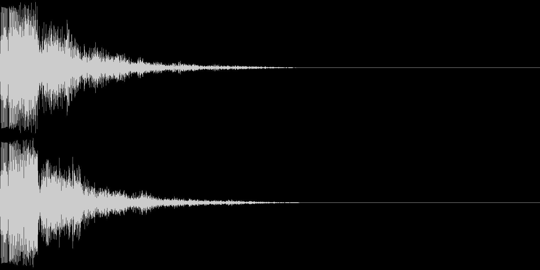 ピリ(電子音)の未再生の波形