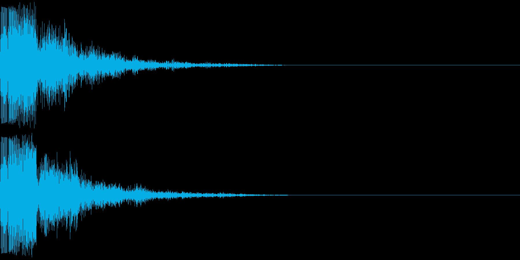 ピリ(電子音)の再生済みの波形