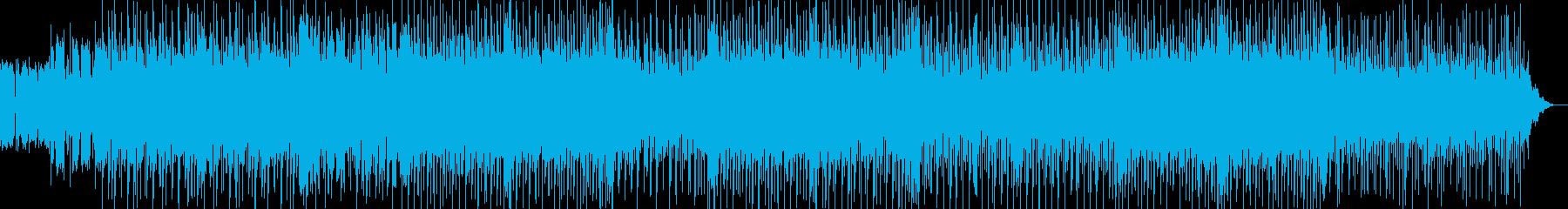 ハウスっぽいリズムとノリのカッコイ曲の再生済みの波形