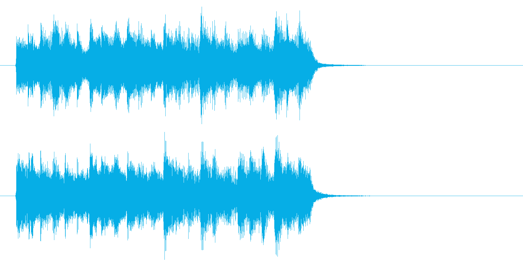 神秘的な森の中のようなBGM_ループ用3の再生済みの波形