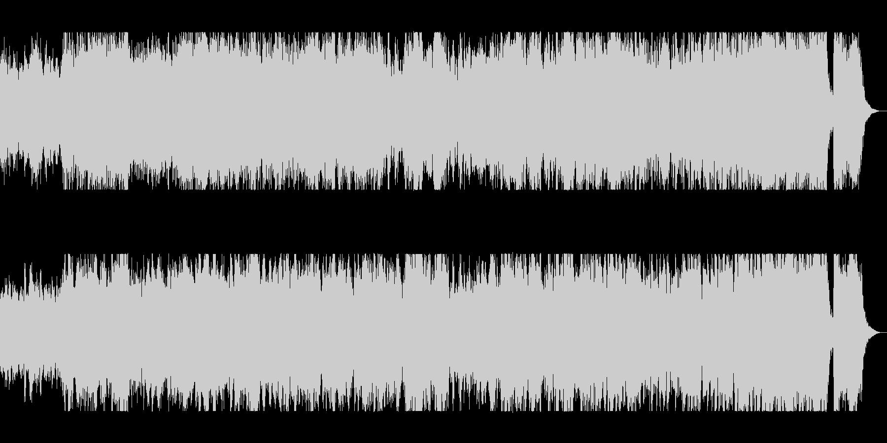躍動感のあるオーケストラサウンドの未再生の波形