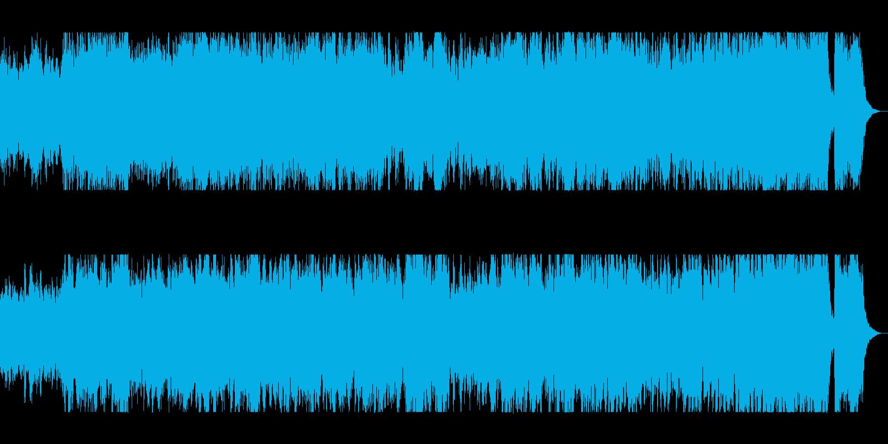 躍動感のあるオーケストラサウンドの再生済みの波形