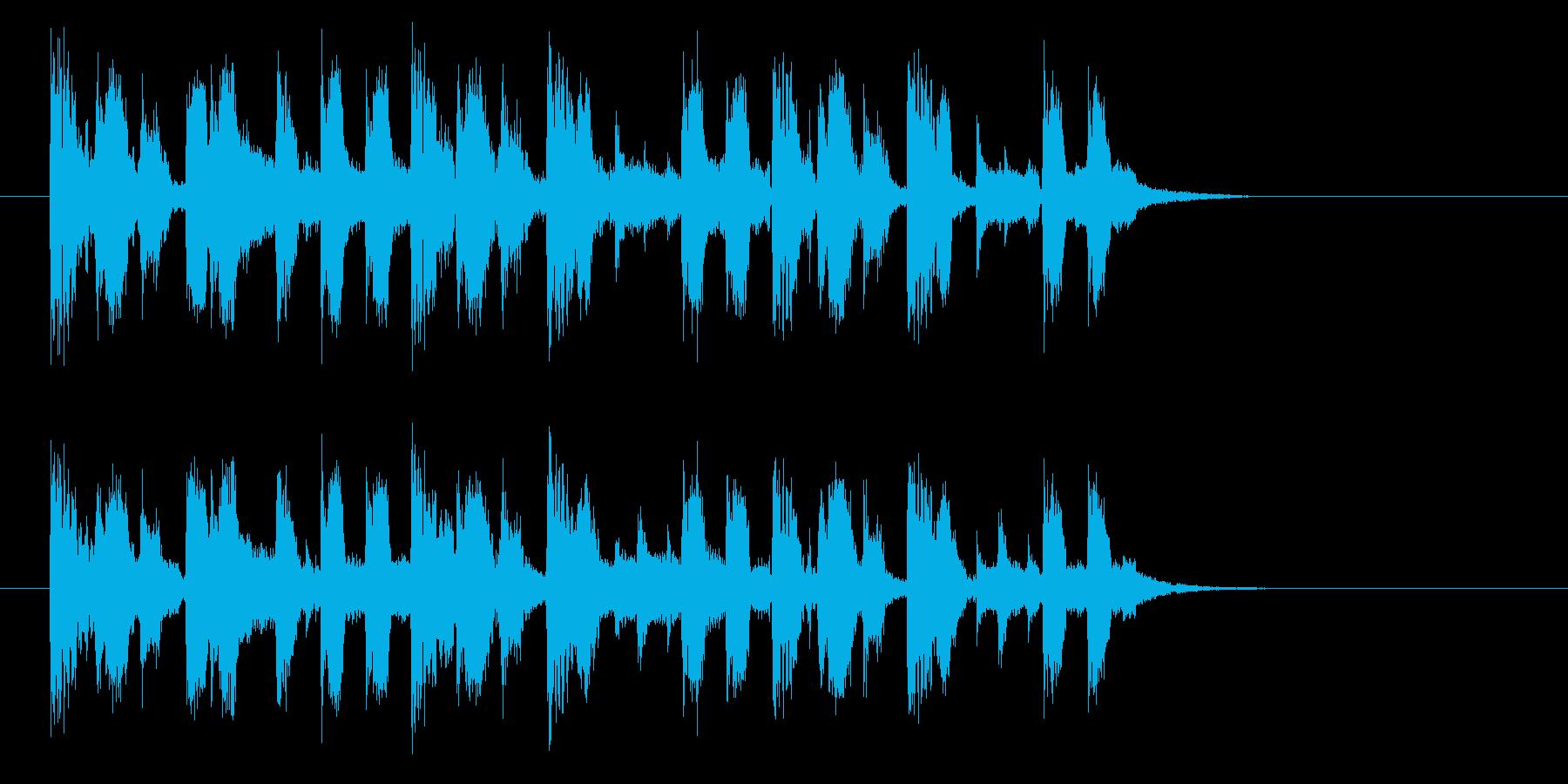 エキゾチックなバンドのポップなジングルの再生済みの波形