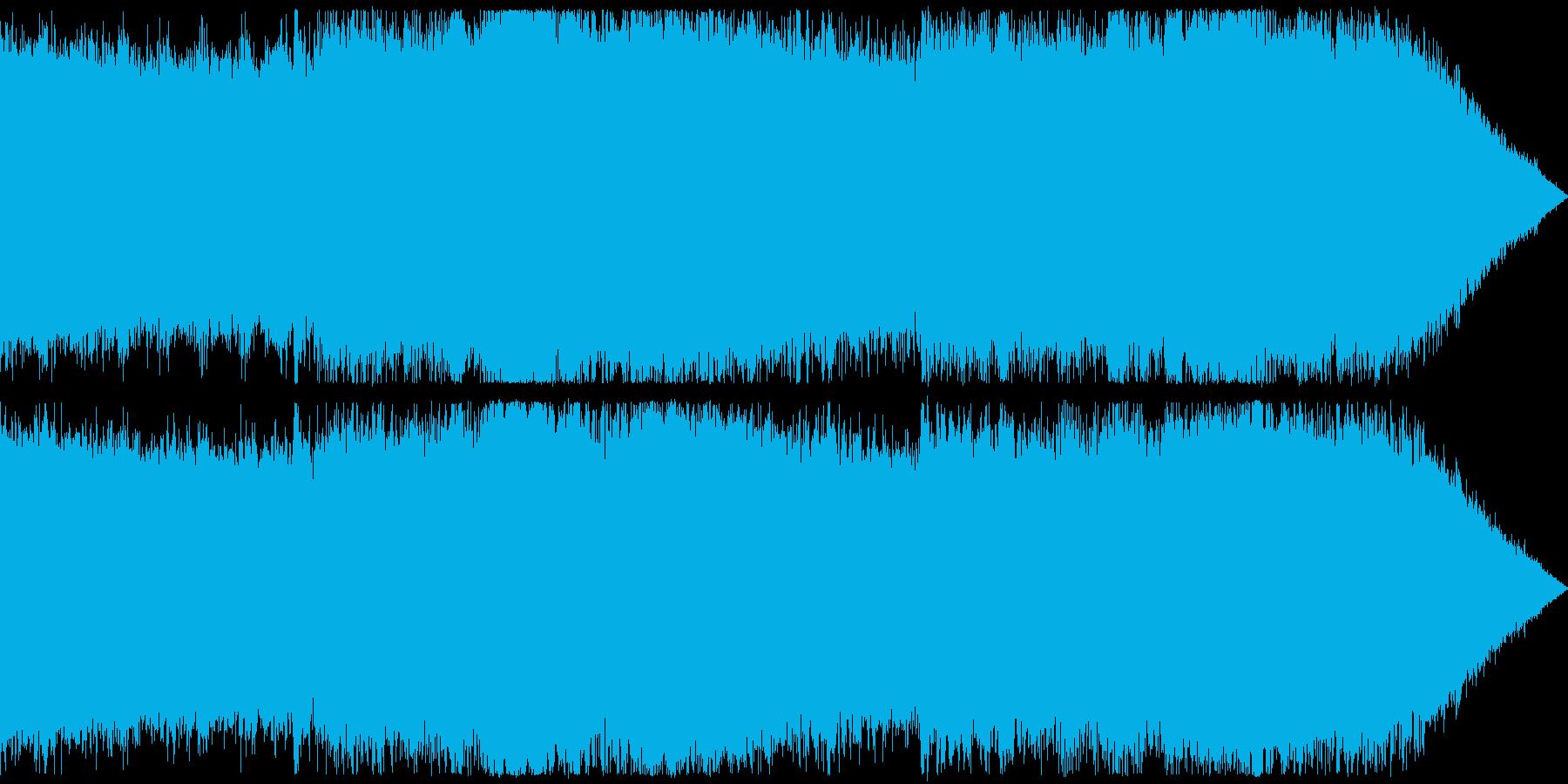 戦闘系のダークなアンビエント曲の再生済みの波形
