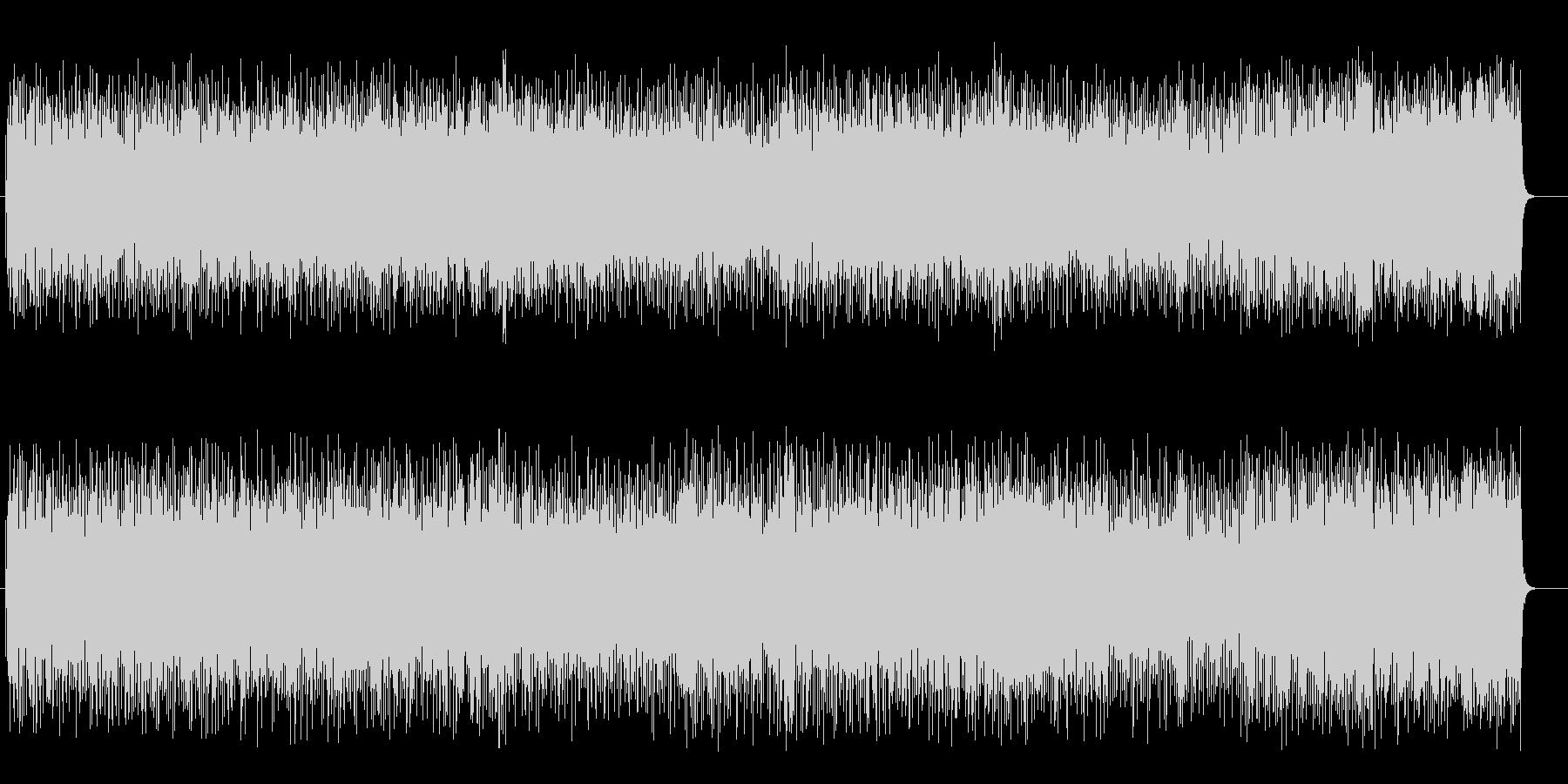 テンポのよい懐かしい軽音楽ライトポップスの未再生の波形