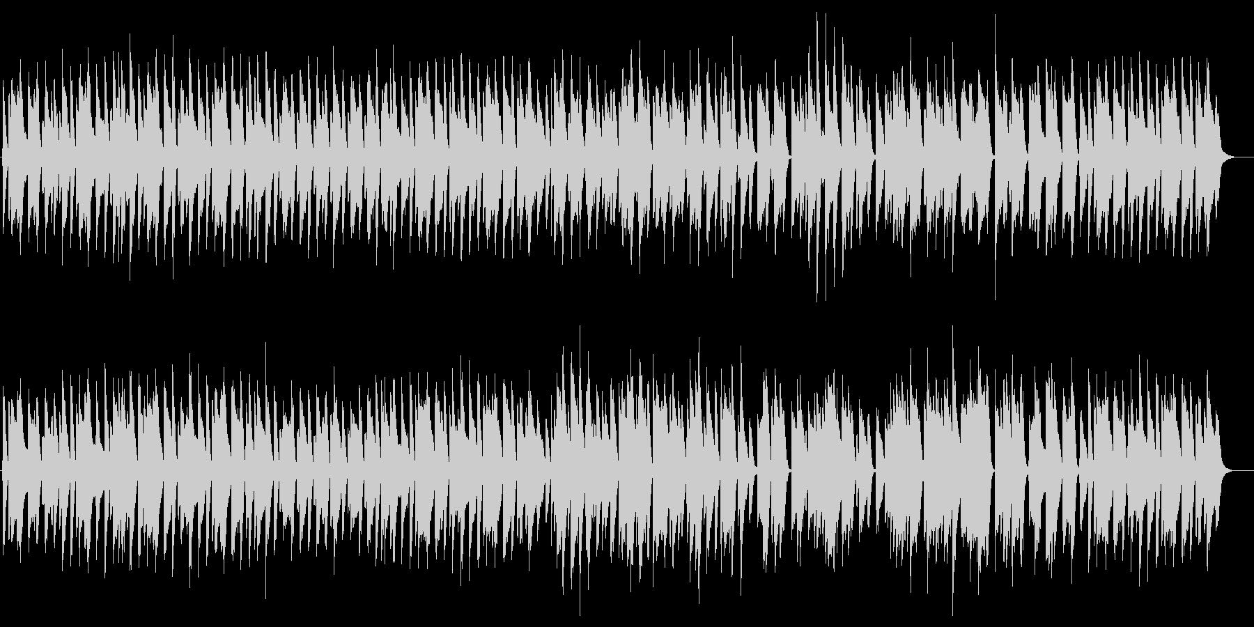 アドリブ感のある軽快で明るいピアノ曲の未再生の波形