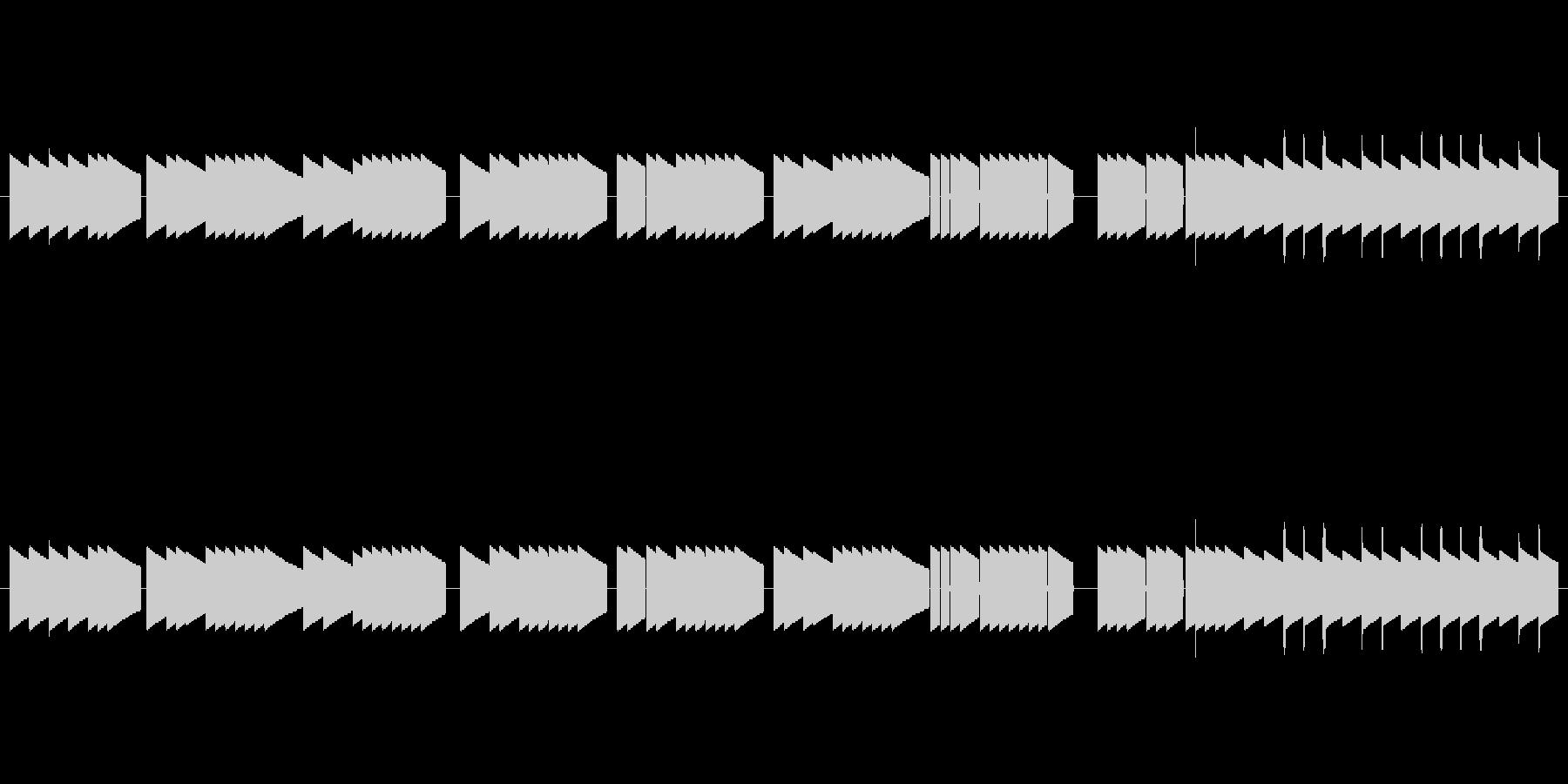 童謡「通りゃんせ」信号機アレンジの未再生の波形