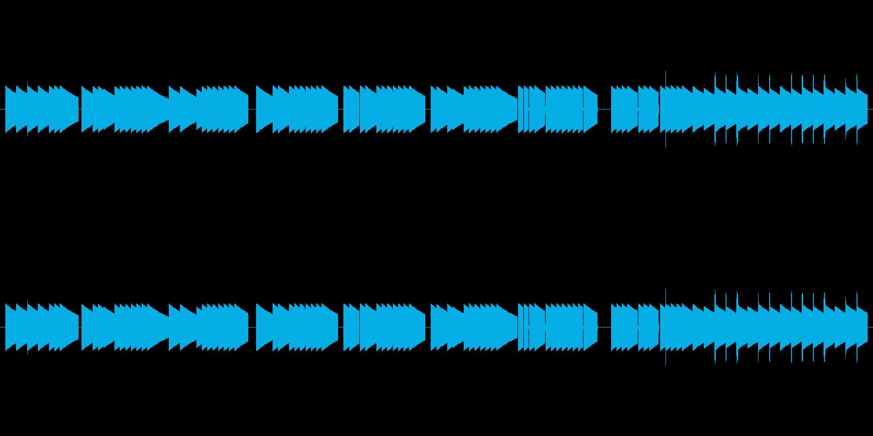 童謡「通りゃんせ」信号機アレンジの再生済みの波形