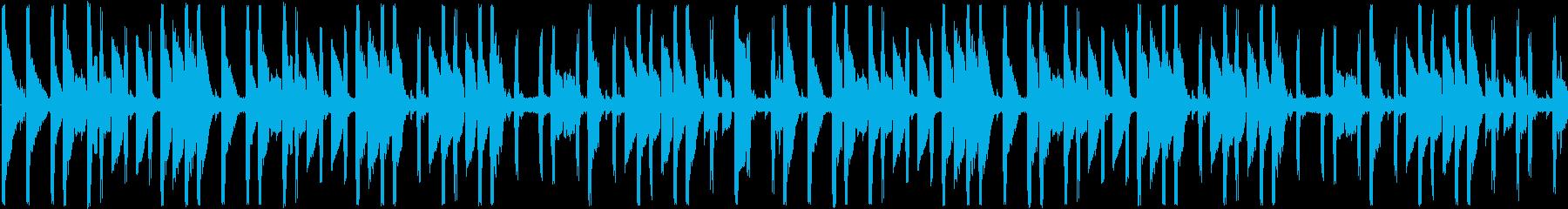 ファミコン風の元気なBGMの再生済みの波形
