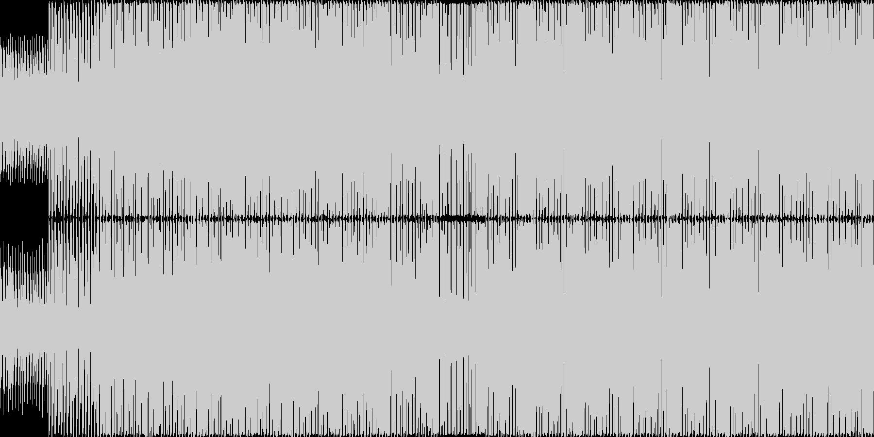 アップテンポで軽快なハウスインストの未再生の波形